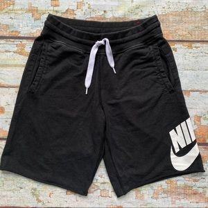 Nike black sweat shorts men's size S